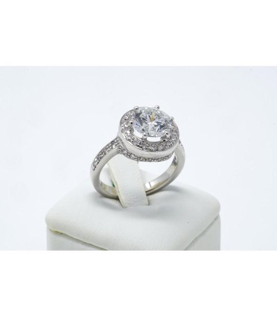 Anello diamante centrale