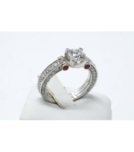 Anello diamanti e rubini