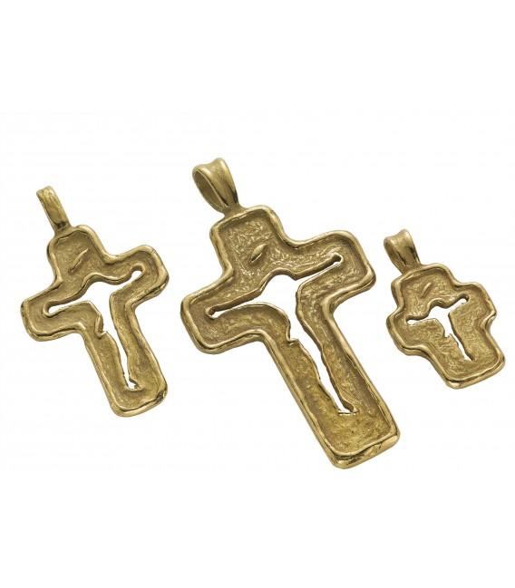 Ciondolo croce fusione oro