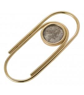 Porta moneta argento filo oro