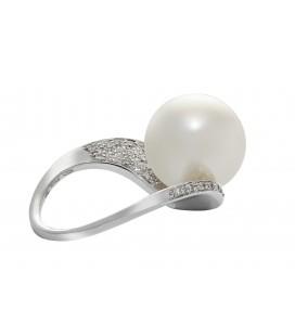 Anello perla coltivata mari del sud