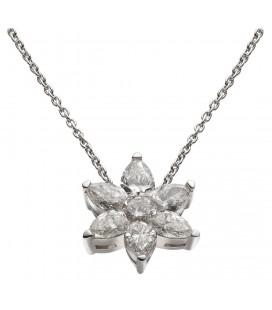 Pendente sei diamanti a goccia