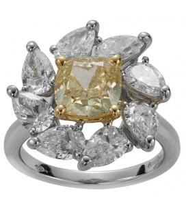 Anello otto diamanti goccia