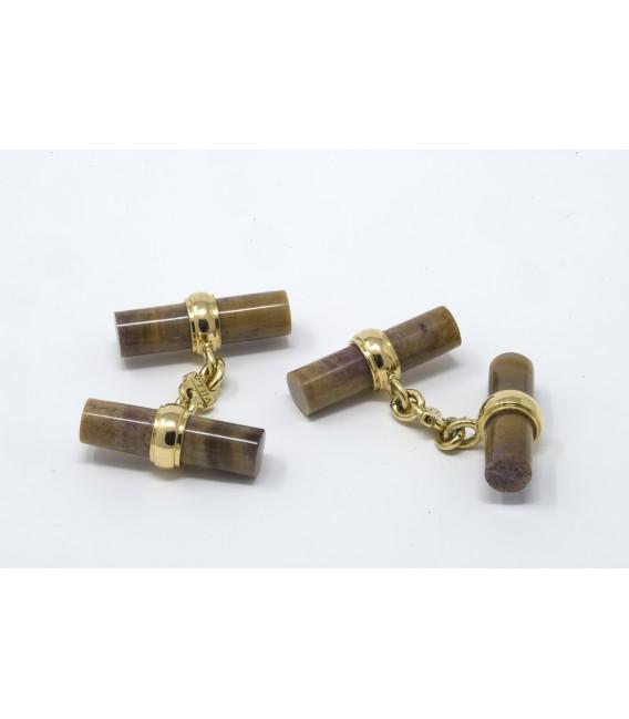 Gemelli legno e oro