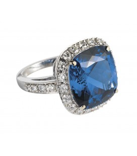 ANELLO TANZANITE CUSHION CUT